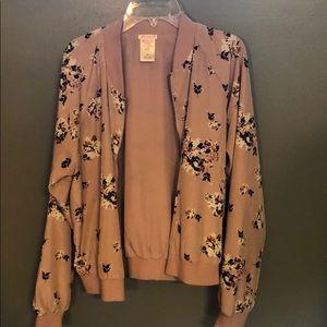Floral print spring jacket